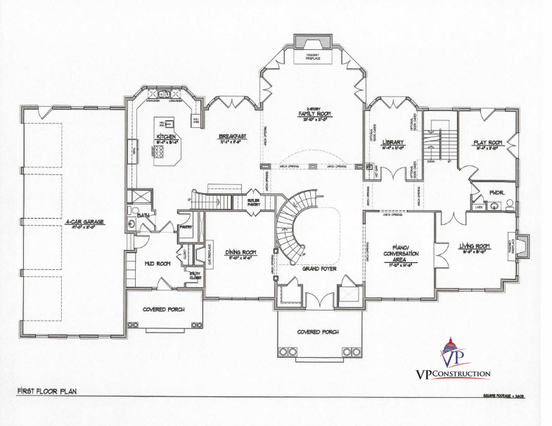 Custom Home 11000 sqft The Rose IV Model  (4)