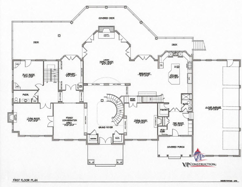 Custom Home 12800 sqFt The Rose II Model  (4)