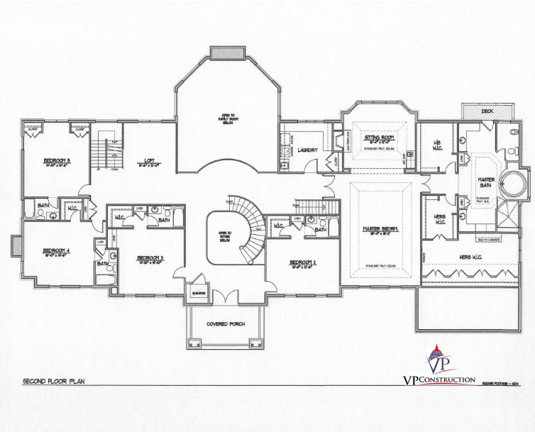 Custom Home 12800 sqFt The Rose II Model  (6)