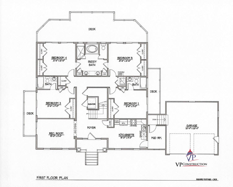 Custom Home Coastal 5800 sqFt The Timothy II Model (5)